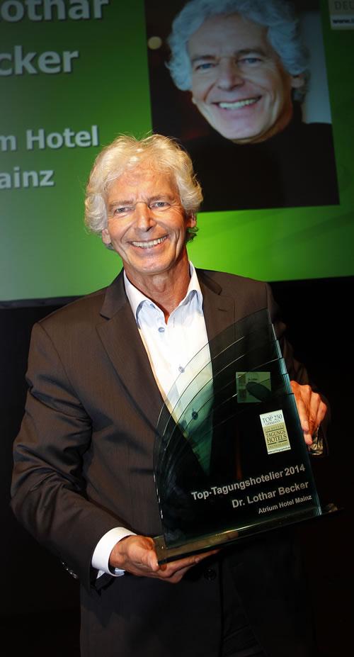 Bild Toptagungshotelier 2014 Dr. Lothar Becker