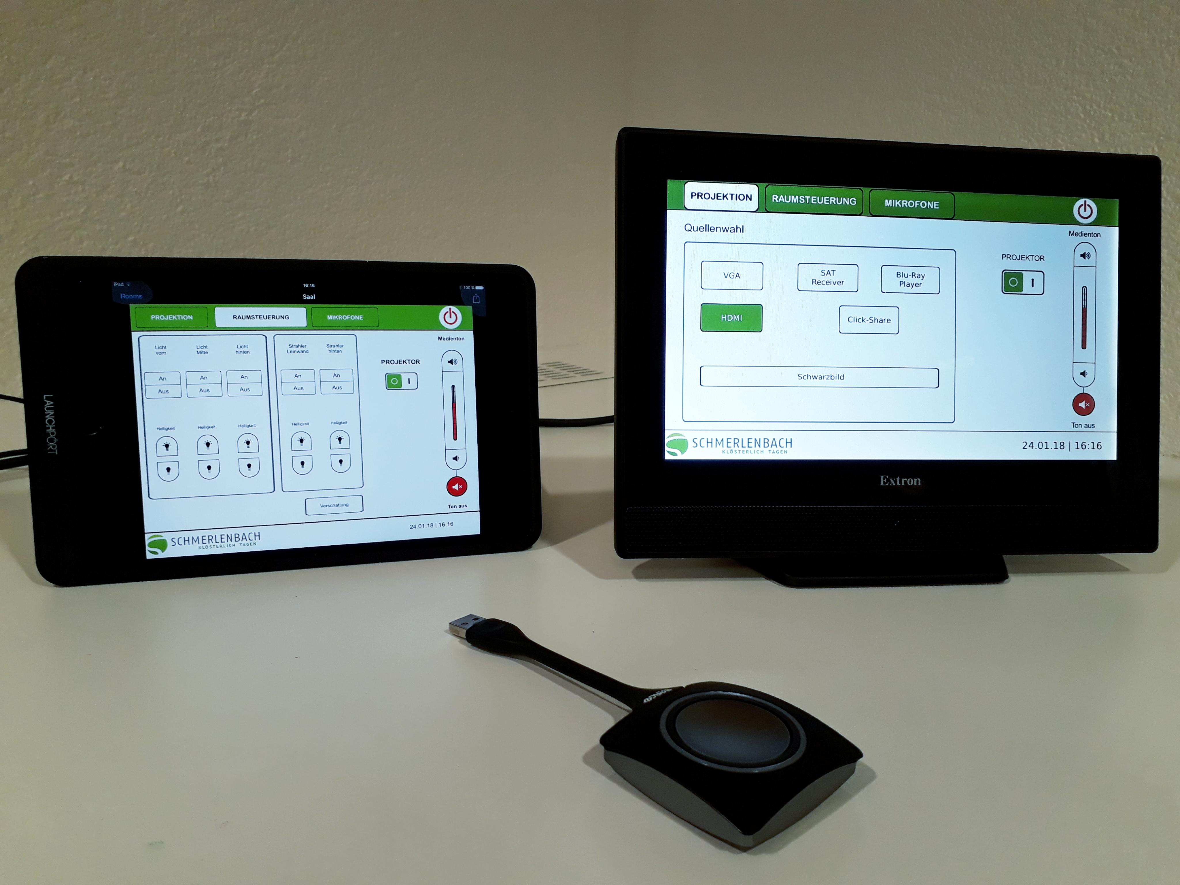 Abb. zu Artikel Modernste medientechnische Steuerung über iPads