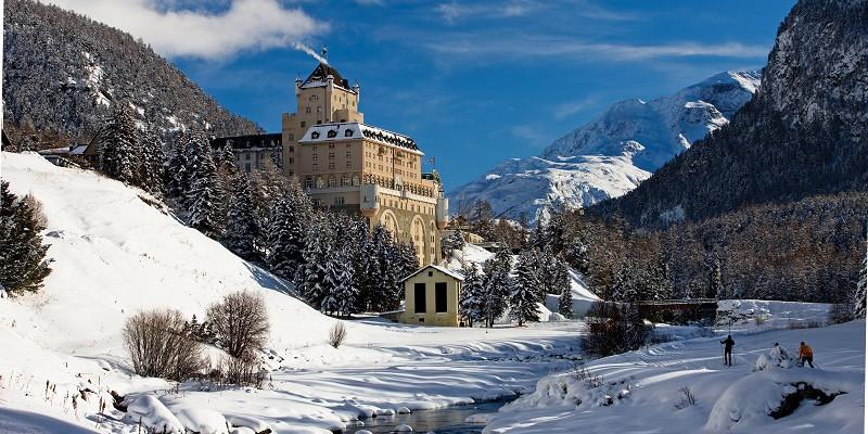 Abb. zu Hotel Schloss Pontresina ist die erste Adresse für Wintersportler