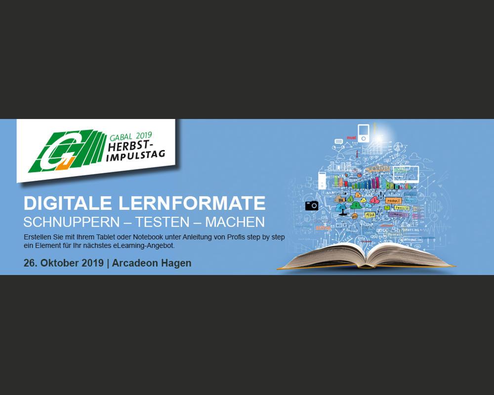 Abb. zu Artikel GABAL Herbst-Impulstag 2019: Digitale Lernformate