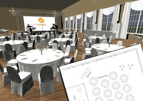 Abb. zu Artikel easyRAUM 2D & 3D Event Software